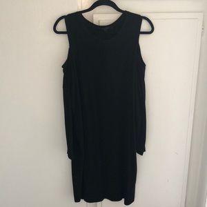 ALL SAINTS Black Cold Shoulder Dress